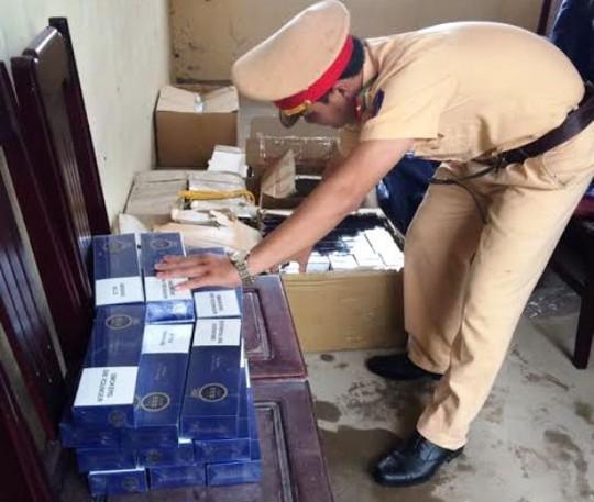 Số thuốc lá được lực lượng CSGT Thanh Hóa phát hiện, bắt giữ