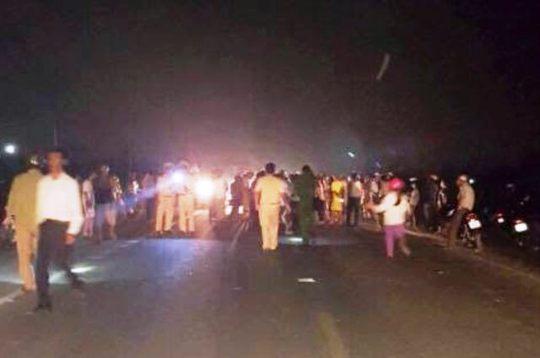 Hiện trường xảy ra vụ tai nạn giao thông khiến 3 người thương vong