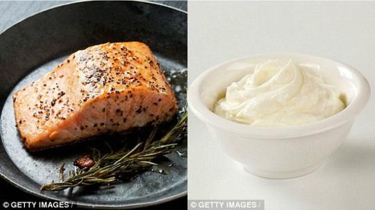 Cá hồi và kem tươi đều là thực phẩm rất tốt cho cơ thể. (Ảnh: getty images)