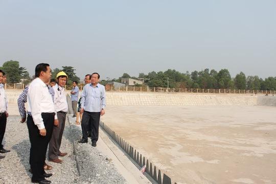 Ban Kinh tế - Ngân sách kiểm tra thực tế dự án hồ điều tiết kênh Ba Bò