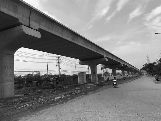 Dự án tuyến đường sắt trên cao sẽ góp phần giải quyết vấn nạn kẹt xe tại TP HCMẢnh: THÀNH ĐỒNG