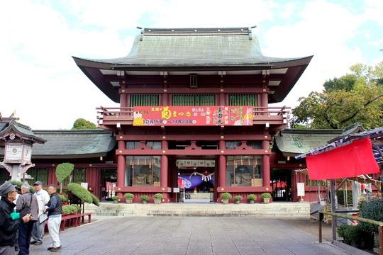 Đền Kasama Inari - nơi diễn ra lễ hội hoa cúc hằng năm