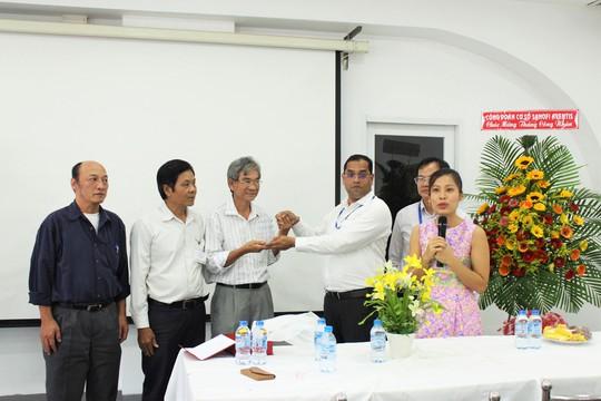 Quan hệ lao động tại Công ty Sanofi Aventis Việt Nam luôn ổn định chính là nhờ mối quan hệ tốt đẹp giữa lãnh đạo, công nhân và Công đoàn Ảnh: BẢO NGHI