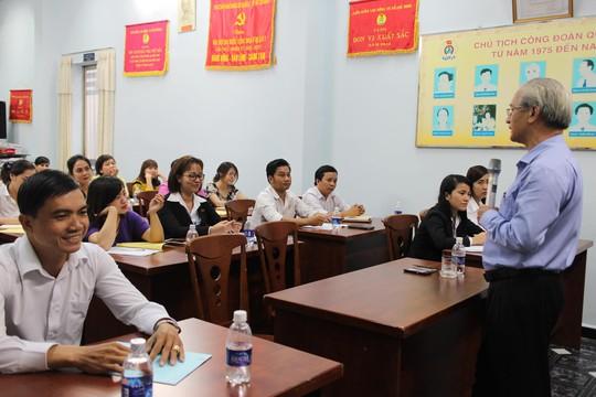Học viên tham gia lớp người dẫn chương trình do LĐLĐ quận 3, TP HCM tổ chức