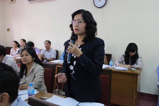 Các đại biểu đóng góp ý kiến tại hội nghị giao ban