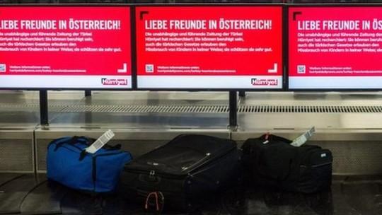 Nhà chức trách Áo đã phát hiện một thứ hành lý bất thường tại sân bay. Ảnh: EPA