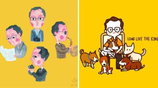 Quốc vương sẽ sống mãi trong lòng người Thái Lan. Ảnh: Twitter
