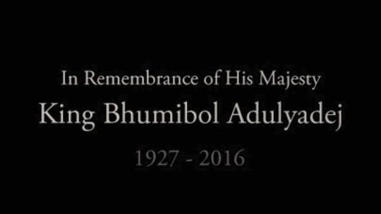Tưởng nhớ Quốc vương Bhumibol Adulyadej 1927-2016. Ảnh: Facebook