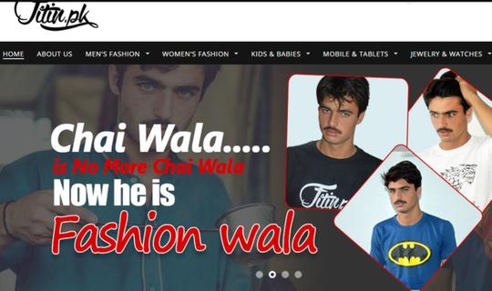 Hình quảng cáo của Khan trên trang web Fitin.pk. Ảnh: Fitin.pk