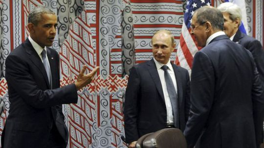 Tổng thống Obama gặp gỡ ông Putin tại New York năm 2015. Ảnh: Reuters