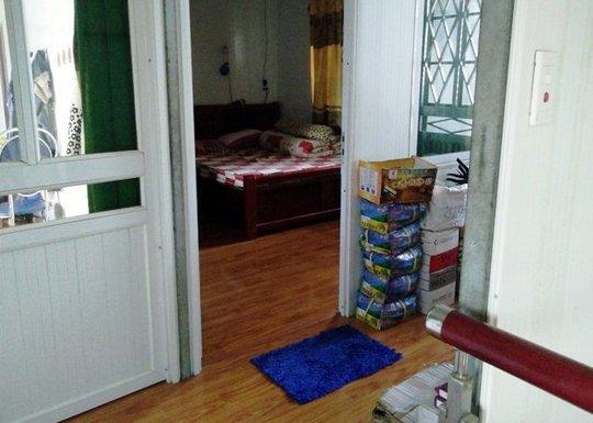 Căn phòng nơi ông Nguyễn Văn Định quật ngã kẻ đột nhập