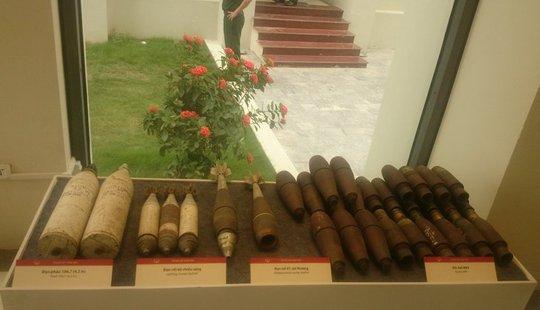 Cận cảnh các loại bom mìn Mỹ ném xuống Việt Nam 1964-1972
