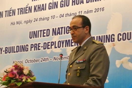 Trung tá Adil Fichtali, Giám đốc Chương trình huấn luyện, Ban huấn luyện tích hợp, Trưởng đoàn chuyên gia huấn luyện lưu động LHQ