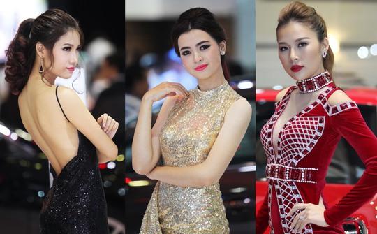 Dàn chân dài tại Triển lãm Ô tô quốc tế Việt Nam - Vietnam International Motorshow 2016 (VIMS 2016) chưa bao giờ hết hấp dẫn với khách tham quan.