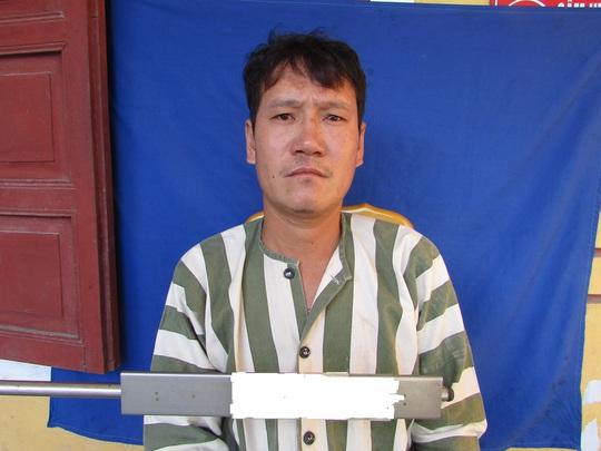 Đối tượng Lê Văn Quảng Tại cơ quan điều tra - ảnh Danh Thịnh