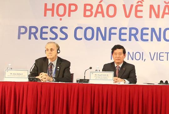 Ông Huỳnh Vĩnh Ái, Thứ trưởng Bộ Văn hóa, Thể thao và Du lịch, Phó Trưởng Tiểu ban tuyên truyền và văn hoá, Uỷ ban Quốc gia APEC, tại buổi họp báo ngày 12-9