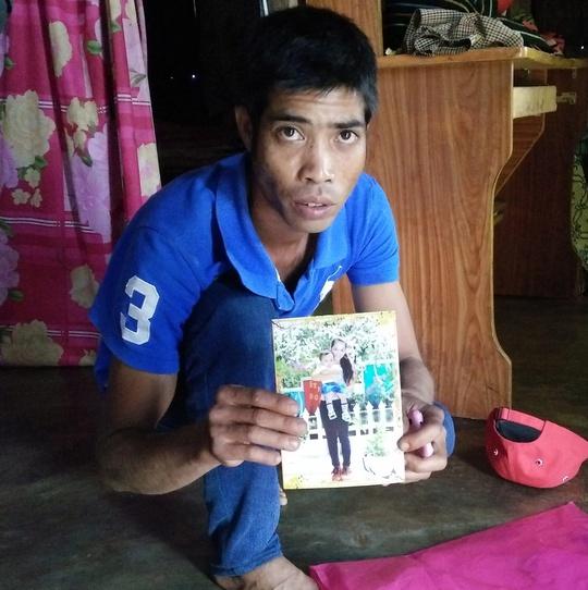 Anh Y Diêu cung cấp hình ảnh người vợ mất tích. Ảnh B.N