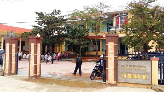 Trụ sở UBND xã Quảng Hải nơi ông Cao Xuân Sơn chưa tốt nghiệp THPT nhưng vẫn được làm lãnh đạo xã