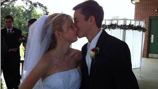 Katie và Dalton khi làm đám cưới