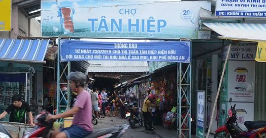 Chợ Tân Hiệp hiện hữu