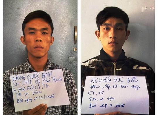 Dương Quốc Bình và Nguyễn Đức Bảo bị bắt giữ