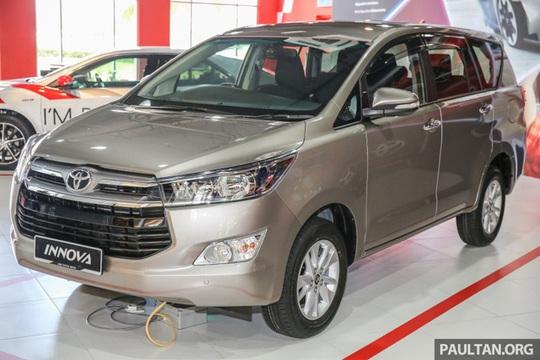 Toyota Innova 2016 ra mắt tại Malaysia giá từ 541 triệu đồng