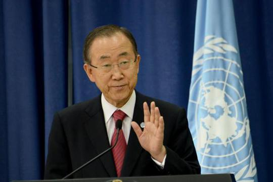 Tổng Thư ký Liên Hiệp Quốc Ban Ki-moon. Ảnh: UPI