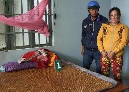Đối tượng Lưu Thị Phương Mai tại nhà chị Trần Thị Lựa, nơi Mai ăn cắp chiếc điện thoại.
