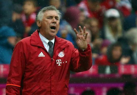 Với HLV Ancelotti, Bayern Munich vẫn thống trị bóng đá Đức Ảnh: REUTERS