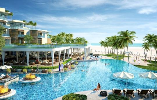 Bể bơi lớn tại dự án Condotel Premier Residences Phu Quoc Emerald Bay