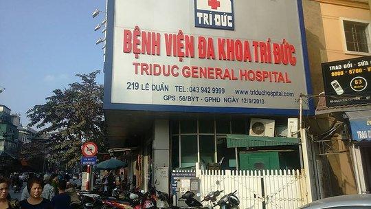 Bệnh viện Đa khoa Trí Đức - nơi xảy ra sự cố 2 bệnh nhân tử vong sau gây mê