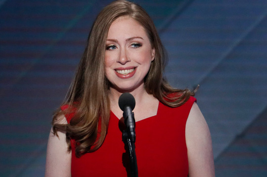 Chelsea Clinton, con gái bà Hillary Clinton. Ảnh: AP