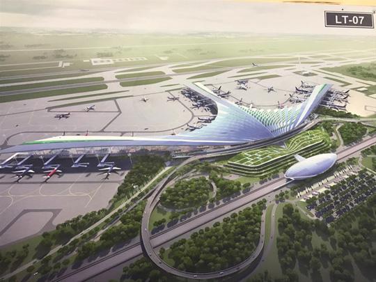 Phương án thiết kế nhà ga hành khách sân bay quốc tế Long Thành theo hình lá cọ được trưng bày tại triển lãmẢnh: Thanh Bình