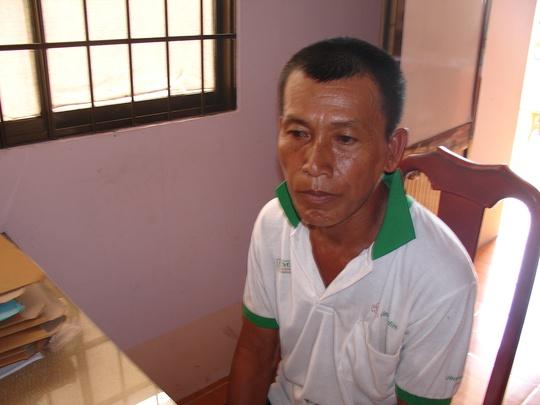 Đối tượng Nguyễn Văn Chịa. Ảnh: Hồ Giang