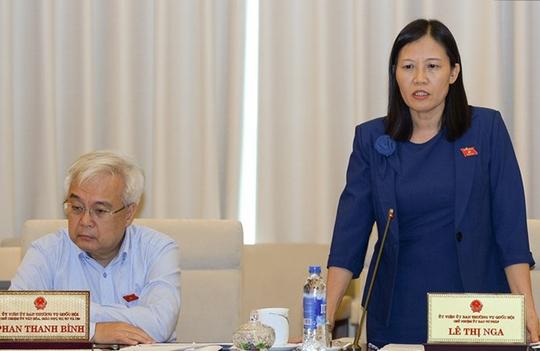Chủ nhiệm Ủy ban Tư pháp của Quốc hội Lê Thị Nga góp ý cho dự án Luật Trách nhiệm bồi thường của nhà nước (sửa đổi)
