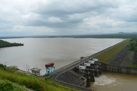 Thủy điện Buôn Kuốp nằm trên sông Sêrêpốk (tỉnh Đăk Lăk)Ảnh: Cao Nguyên