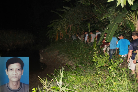 Lực lượng chức năng trắng đêm truy tìm (ảnh lớn) và đã bắt được Doãn Trung Dũng