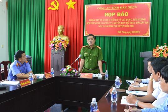 Công an tỉnh Đắk Nông họp báo công bố kết luận điều tra vụ án