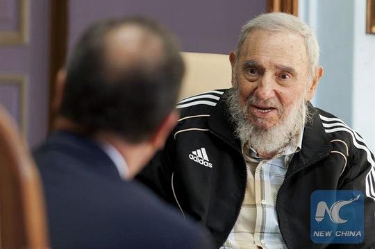 Cựu Lãnh tụ Cuba Fidel Castro vào năm 2015. Ảnh: Tân Hoa Xã