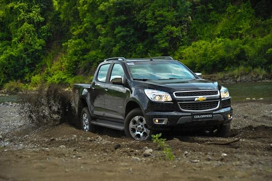 Chevrolet Colorado LT được đánh giá cao nhờ động cơ mạnh.