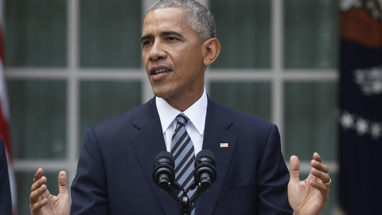 Ông Obama có bài phát biểu theo nghi thức tại Nhà Trắng. Ảnh: AP