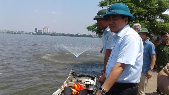 Chủ tịch UBND TP Hà Nội Nguyễn Đức Chung tại hiện trường