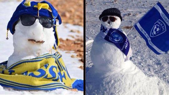 Hình ảnh người tuyết hài hước. Ảnh: Twitter