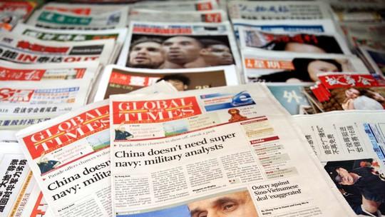 Thời báo Hoàn cầu ẩn chứa thông điệp ngầm của chính phủ Trung Quốc. Ảnh: Imaginechina