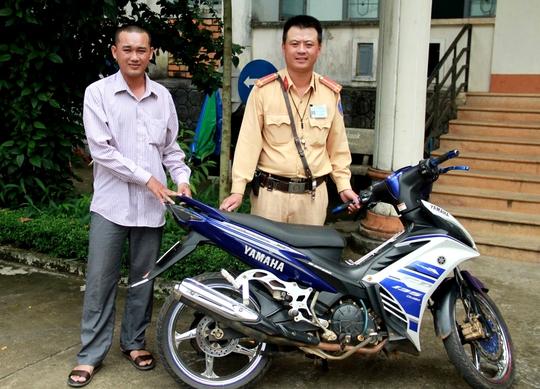 Chiếc xe máy bị mất cắp tại tỉnh Long An và được trao trả tại tỉnh Gia Lai
