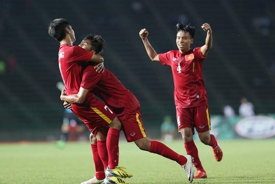 Niềm vui chiến thắng của U16 Việt Nam