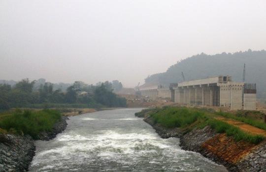 Kênh Bắc chảy qua huyện Ngọc Lặc, tỉnh Thanh Hóa nơi 2 học sinh lớp 5 chết đuối thương tâm ngày 16-9 vừa qua