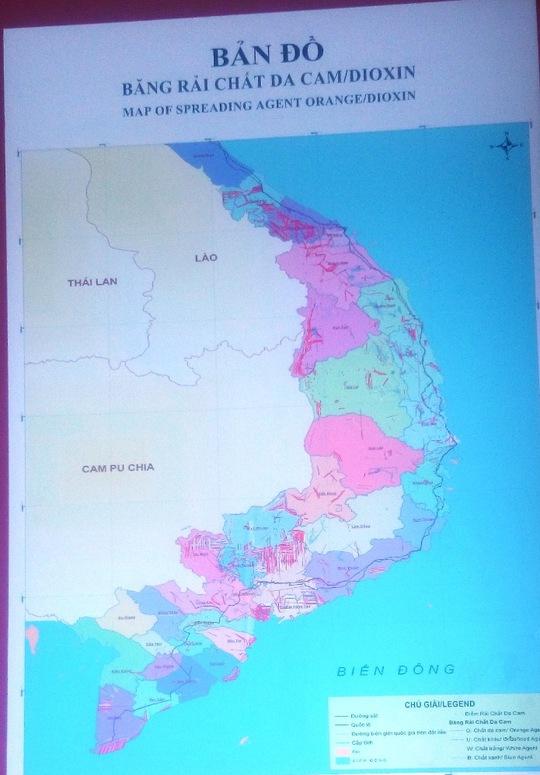 Bản đồ băng rải chất da cam/Dioxin