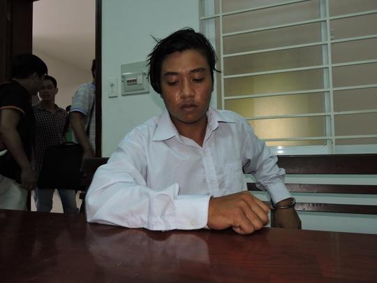 Đối tượng Châu Minh Nhân tại cơ quan điều tra