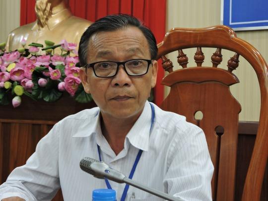 Ông Trần Văn Cường, Phó Giám đốc sở NN&PTNT tỉnh BR-VT trả lời phóng viên